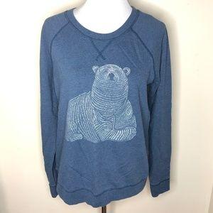 Old Navy Polar Bear Blue Sweatshirt Crewneck L